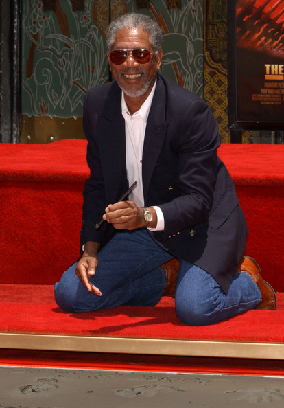 Morgan Freeman Hand and Footprint Ceremony - Pictures - Zimbio