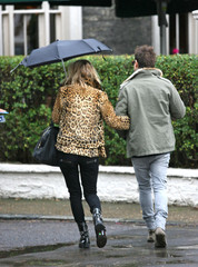 Kate Moss Kate Moss Out in the Rain