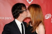 MusiCares 2013 Person of the Year Tribute honoring Bruce Springsteen..Los Angeles Convention Center, Los Angeles, CA..February 8, 2013..Job: 130208A1..(Photo by Axelle Woussen)..Pictured: Alicia Witt and Ben Folds..