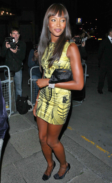 Naomi Campbell Supermodel Naomi Campbell arrives at Le Caprice to attend a private dinner to celebrate the 25th London Fashion Week.