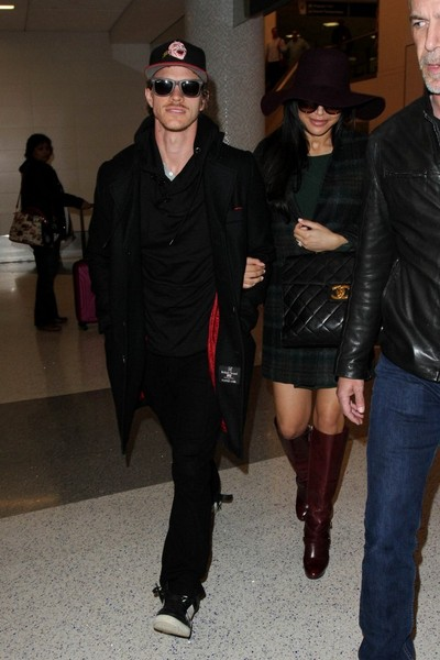Naya Rivera and husband Ryan Dorsey seen at LAX.