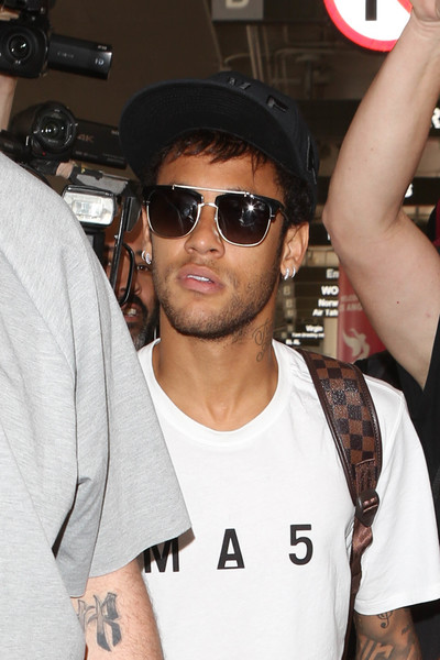 Neymar Spotted at LAX
