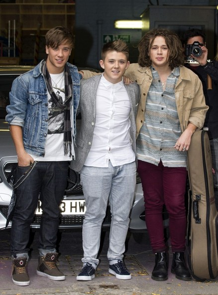 UK 'X Factor' Finalists Leave the ITV Studios