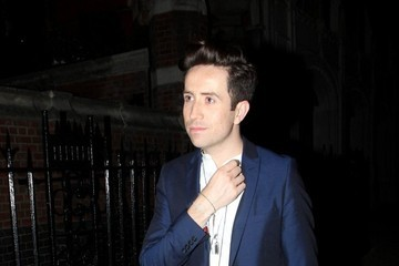 Nick Grimshaw Celebs Arrive at Chiltern Firehouse