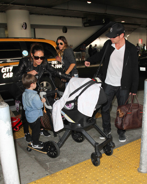 Nick Lachey and Family Are Seen at LAX