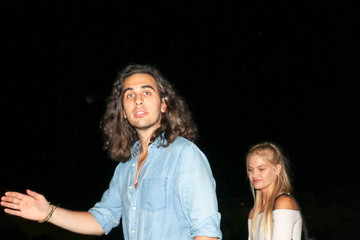 Nick Simmons Nick Simmons And Rebecca Szulc Outside Delilah Nightclub In West Hollywood