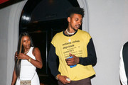 Nick Young Outside Craig's Restaurant In West Hollywood