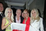 Hugh Hefner and the 'Girls next Door' (Holly Madison, Bridget Marquardt and Kendra Wilkinson) celebrate Hef's 80th birthday in England.