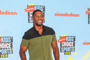 Michael Strahan is seen attending the Nickelodeon Kids' Choice Sports at Barker Hangar in Los Angeles, California.
