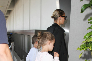 Nicole Richie Nicole Richie and Her Family Are Seen at LAX