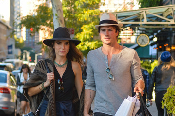 Nikki Reed Ian Somerhalder and Nikki Reed Out in New York