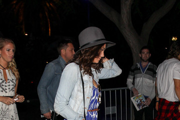 Nina Dobrev Celebrities Arrive at Taylor Swift's Concert at the Staples Center