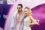 Kelli Berglund and Avan Jogia are seen attending Now Apocalypse Premiere at Hollywood Palladium in Los Angeles, California.