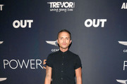 Thomas Dekker is seen arriving at OUT Magazine's Annual Power 50 Celebration at NeueHouse Hollywood in Los Angeles, California.