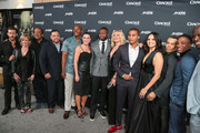 Ryan Kwanten, Linda Purl, Joe Halpin, Isaac Keys, Eva Mauro, Curtis Jackson, Elisabeth Rohm, Cory Hardrict, Katrina Law, Arlen Escarpeta, Kwame Patterson, JJ Soria of The Oath cast are seen attending the premiere of Crackle's 'The Oath' at Sony Pictures Studios in Los Angeles, California.
