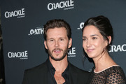 Ryan Kwanten and Ashley Sisino are seen attending the premiere of Crackle's 'The Oath' at Sony Pictures Studios in Los Angeles, California.