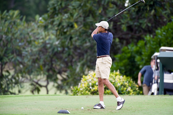 Barack Obama Golf at the Mid-Pacific Country Club
