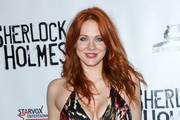 Maitland Ward is seen arriving at the Opening Night Of Sir Arthur Conan Doyle's 'Sherlock Holmes' at The Ricardo Montalban Theatre.