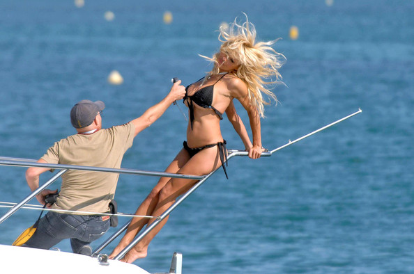 Pam anderson on boat