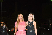 Paris Hilton and Megan Pormer are seen in Los Angeles, California.