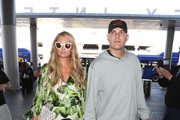 Paris Hilton and Chris Zylka are seen at LAX.NON EXCLUSIVE June 08, 2018.