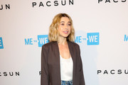 Olesya Rulin is seen attending Party with a Purpose, the Official Pre-Party to WE Day California at The Peppermint Club in Los Angeles, California.
