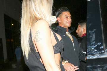 Paul DelVecchio Vinny Guadagnino And Pauly D At Poppy Nightclub In West Hollywood