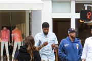 Paul George is seen in Los Angeles, California.
