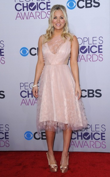 People's Choice Awards 2013..Nokia Theatre L.A. Live, Los Angeles, CA..January 9, 2013..Job: 130109A1..(Photo by Axelle Woussen)..Pictured: Kaley Cuoco.