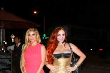 Phoebe Price Sophia Vegas Wollersheim And Phoebe Price Outside Craig's Restaurant In West Hollywood