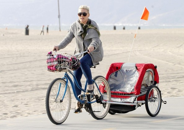 Pink and Willow Go Bike Riding