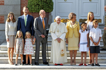 Victoria Federica de Marichalar The Pope Meets Wih Spanish Royals