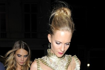 Poppy Delevingne Cara Delevingne Arrivals at the British Fashion Council Party