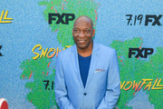 John Singleton is seen arriving at the premiere of FX's 'Snowfall' Season 2 at the Regal Cinemas L.A. LIVE Stadium 14 in Los Angeles, California.
