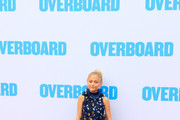 Alyvia Alyn Lind is seen arriving at the Premiere of Lionsgate and Pantelion Film's 'Overboard' at Regency Village Theatre in Los Angeles, California.