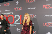 Charlotte Ross is seen arriving at the premiere of Lionsgate's 'Tyler Perry's Boo 2! A Madea Halloween' at Regal LA Live Stadium 14 in Los Angeles, California.