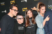 Dan Levy, Lea DeLaria, Sarah Levy, Annie Murphy are seen attending the premiere of Pop TV's 'Schitt's Creek' season 4 at ArcLight Hollywood in Los Angeles, California.