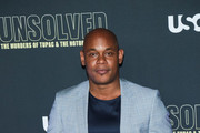 Bokeem Woodbine is seen attending the premiere of USA Network's 'Unsolved: The Murders of Tupac and The Notorious B.I.G. at Avalon in Los Angeles, California.