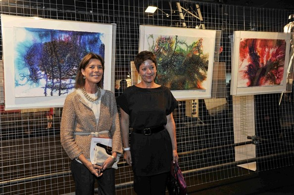 Princess Caroline 'Arternativelight' Exhibition Launch at Chapiteau de Fontvieille featuring paintings by Robert Redford.