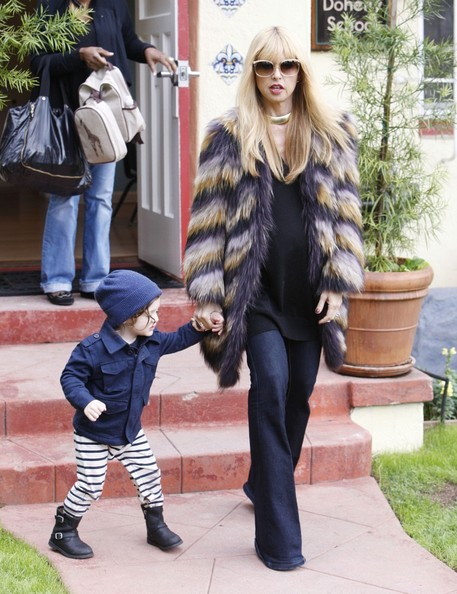 Rachel Zoe and Skyler Morrison Berman hang out after school.