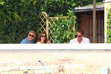 Rande Gerber George Clooney Has Breakfast Before His Wedding