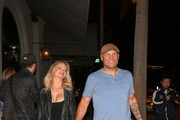 Randy Couture And Mindy Robinson Outside Craig's Restaurant In West Hollywood