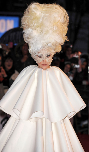 Lady Gaga 2010 Brit Award Arrivals .