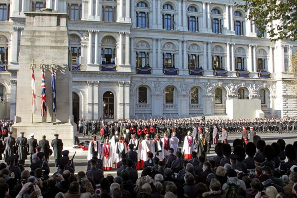 11th November, 2012:  The Remembrance service at The Cenotaph in London today. Here, general view.