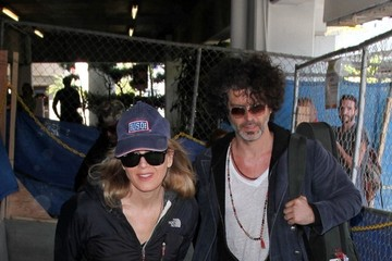 Renee Zellweger Renee Zellweger and Doyle Bramhall at LAX