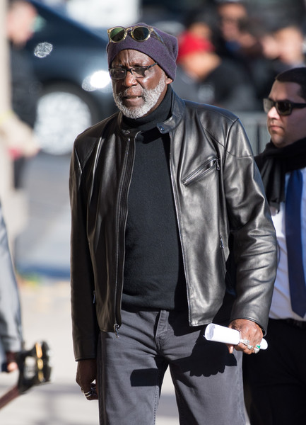 Richard Roundtree Enters The 'Kimmel' Studio