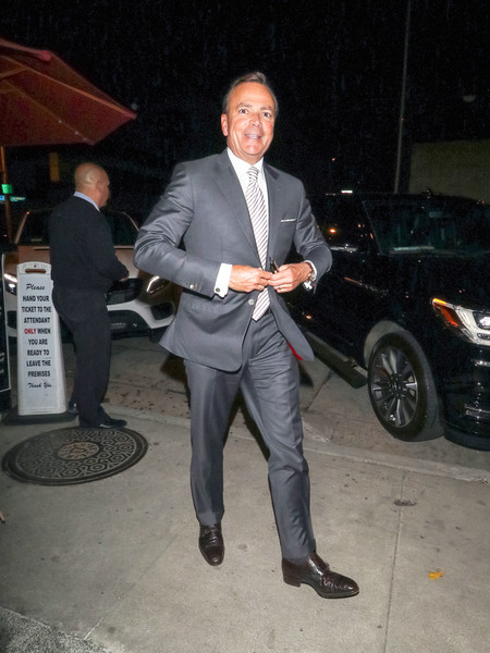 Rick Caruso Outside Craig's Restaurant In West Hollywood
