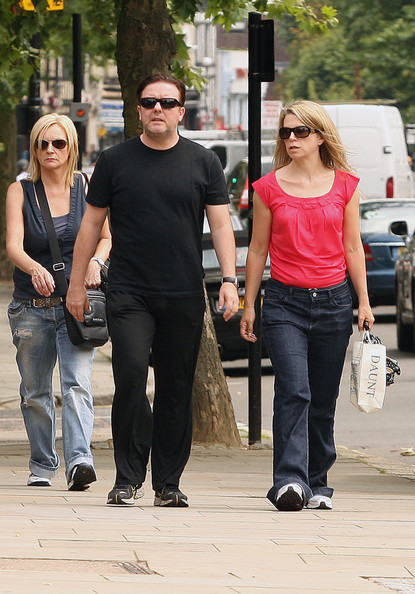 Jane Fallon Pictures Ricky Gervais and Jane Fallon in North London -