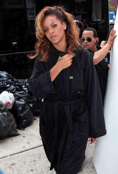 Rihanna Gets Ready for Fashion Week