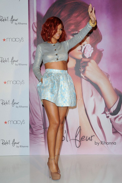 Rihanna Rihanna celebrates the launch of her first fragrance 'Reb'l Fleur'. .Macy's Lakewood, Lakewood, CA.February 18, 2011.